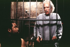 John Carpenter on the set of Ghosts of Mars with Ice Cube