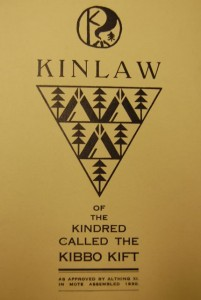 Kinlaw of the Kindred of the Kibbo Kift