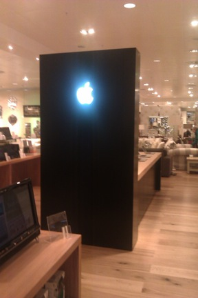 In-store Apple monolith