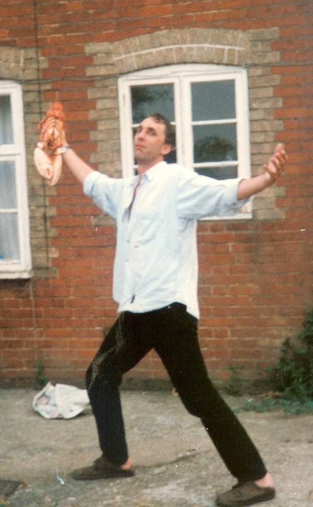 Will Self with lobster