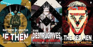 The three novels in Matthew De Abaitua's science fiction trilogy